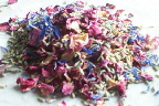 natural confetti wedding petals